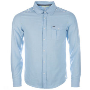 adidas Neo Mens I Shirt Long Sleeve 100% cotton Blue Smart Casual  RRP £40