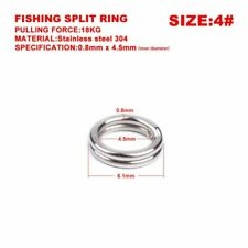 Nickel Plated Sea Fishing Split Rings All Sizes 3.5 4.0 4.5 5.0 7.0 8.0 10.0mm
