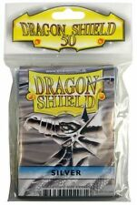 Card Sleeves Dragon Shield 50ct Box Deck Protector Classic Silver Standard Size