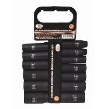 "13pc IIT 1/2"" SAE DEEP Impact Sockets Set 7/16""-1-1/4"" #12130 Holder Rack 12130"