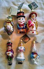 Alice in Wonderland Christmas Ornament Old World Christmas Set of 6