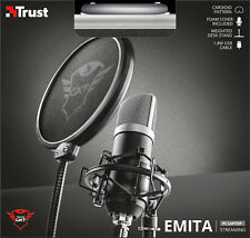 TRUST 21753 GXT 252 EMITA HIGH QUALITY PROFESSIONAL STUDIO STREAMING MICROPHONE