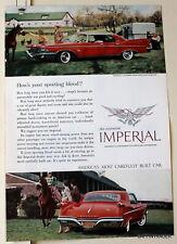 Imperial Le Baron  Four Door Southampton  1960 Magazine Print Ad 7 x 10