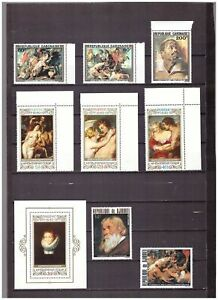 s16251) RUBENS PAINTINGS QUADRI MNH** 1977 Djibouti Gabon ... 8v + S/S