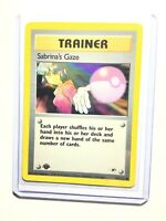 SABRINA'S GAZE - 1st Edition Gym Heroes  - 125/132 - Common - Pokemon - NM