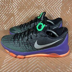 Nike KD 8 Vinary Black/White-Green Shock-Hyper Orange Men's Size 12.5 749375-013