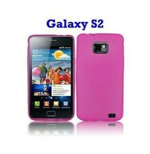 Cover Case Samsung Silicone Galaxy S2 i9100 Pink Transparent Pink