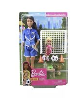 Barbie You Can Be Anything - Soccer Coach - Brunette Soccer Coach Doll New