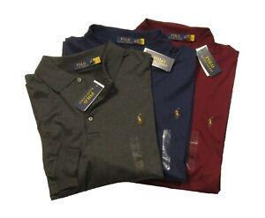 Polo Ralph Lauren Big & Tall Men's Solid Interlock Long Sleeve Polo Shirt