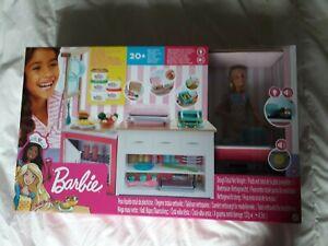 barbie coffret neuf les metiers cuisine avec pate a modeler plus de 20 pieces