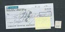 Recuento de leucocitos. - Cheque-CH1193-usado -1991 - Barclays Bank, ystradgynlais, Swansea