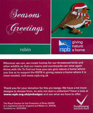 RSPB Pin Badge   Christmas Robin with hat & scarf   GNaH [01176]