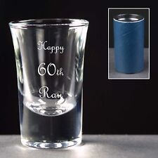 Personalised Shot Glass, Birthday Gift, 58th 59th 60th 61st 62nd 63rd 64th 65th