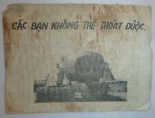You Cannot Escape Our Artillery - Us Psy Ops Leaflet - 1967 - Vietnam War - 3437