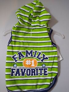 Simply Dog  Green and Blue Stripped T-Shirt  Hoodie New  Small  Super Cute
