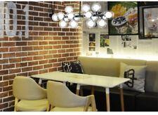 Vintage Clear Glass Balls Black Polished Steel Dining Room Pendant Lamp Lighting