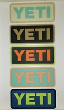 5 Authentic YETI Cooler Decal Stickers NEW