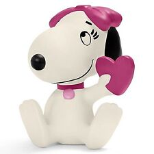 SCHLEICH PEANUTS FIGURE of Belle holding a heart - 22030 - New with Tags
