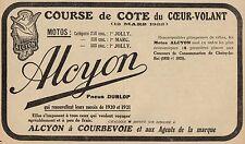 Y8088 Motos ALCYON - Course de Cote du Coeur-Volant - Pubblicità d'epoca_1922 Ad