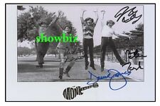 THE MONKEES LARGE AUTOGRAPH PHOTO - ABSOLUTELY STUNNING - GREAT COLLECTABLE