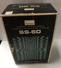 Vintage Sansui SS-60 Stereo Headphones With Original Box