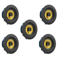 """5 Pack - TDX 6.5"""" 2-Way Ceiling Wall Home Theater Speaker Flush Mount White New"""