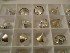 24  Fabulous Swarovski Crystal Buttons 13 mm Rhodium 1 Loop FULL BOX   m1430409