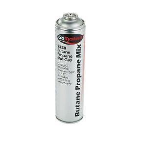 GoSystem 2350 Butane Propane Mix Gas 70:30 Cartridge 350g 631ml Safety Valve