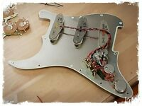 Fender Stratocaster Strat FULLY POPULATED pick guard complete pickup wiring kit