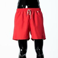 LORO PIANA 390$ Red Microfibre 'Bay Soft Albatros' Swimshorts