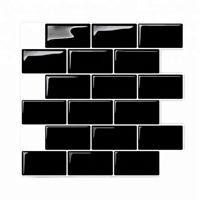 3D Wall Stickers Brick  Tile for Kitchen Bathroom Backsplash Aunty-Tile Hom H5K1