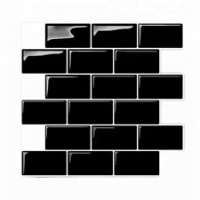 3D Wall Stickers Brick  Tile for Kitchen Bathroom Backsplash Aunty-Tile Hom H5K1