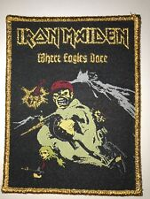 Iron Maiden 'Where Eagles Dare' patch gold border woven limited