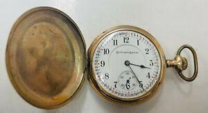 Burlington Special 19J Pocket Watch w/ Australiana Coat of Arms 1915