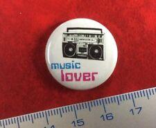 Pin Button Badge MUSIC LOVER in USSR RUSSIA. VERY RARE ORIGINAL !!