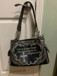 conceal carry leather purse handbag