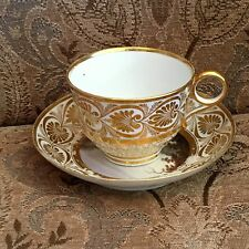 Lovely Royal Worcester Barr Flight & Barr 18th c Cup & Saucer Scenic