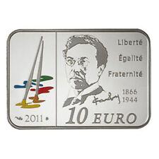 FRANCIA ESTUCHE 10 EURO 2011 VASSILY KANDINSKI PLATA PINTORES