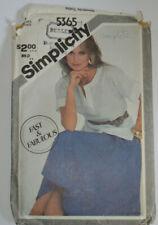 sewing pattern shirt  with slit neckline  short sleeved