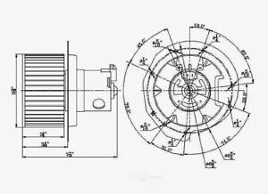 HVAC Blower Motor Front Global 2311639