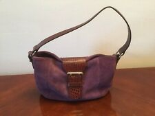 RALPH By Ralph Lauren Suede Purple Bag Leather Strap