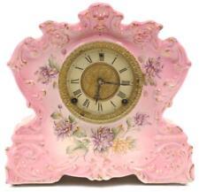 PORCELAIN CASED MANTEL CLOCK. Lot 166