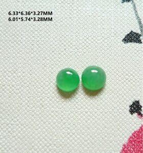 Jadeite Cabochon Jade Grade A Natural Myanmar Burma Loose Jade Pair