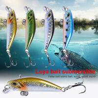 4.7cm/3.7g 3D Eyes Minnow Hard Bait Fishing Sinking Lure Fishing Hooks Tackle