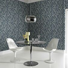 Superfresco Easy Paste the wall Karma Tree Midnight Blue Metallic Wallpaper