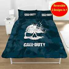 CALL OF DUTY COD GAME 'SKULL' DOUBLE DUVET QUILT COVER SET BOYS KIDS FANS BED