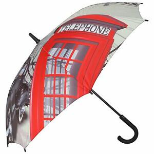 Pierre Cardin Compact Long Handled Umbrella (London Iconic)
