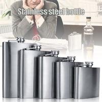 Stainless Steel Hip Liquor Whiskey Alcohol Flask Cap / Pocket Wine Bottle