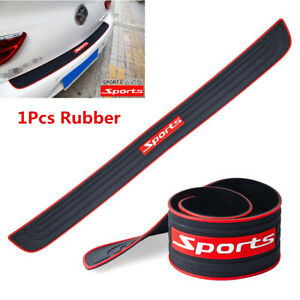 1Pcs Rubber Car Rear Bumper Guard Scratch Protector Non-slip Cover Accessories