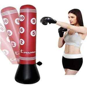 Bolsa de Entrenamiento para Kick Boxing Leezo Bolsa de Boxeo Hinchable con Bomba de Aire Bolsa de Boxeo Inflable